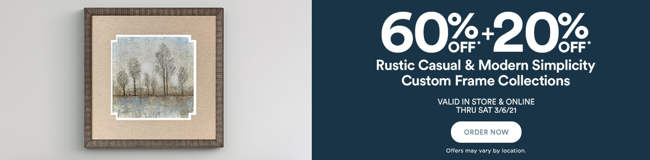 60% OFF + Get An Extra 20% OFF RUSTIC CASUAL & MODERN SIMPLICITY