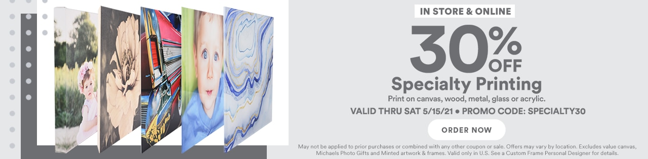 30% Off Specialty Printing